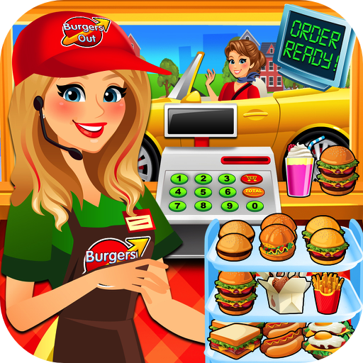 Amazon com drive thru. Cashier clipart fast food cashier