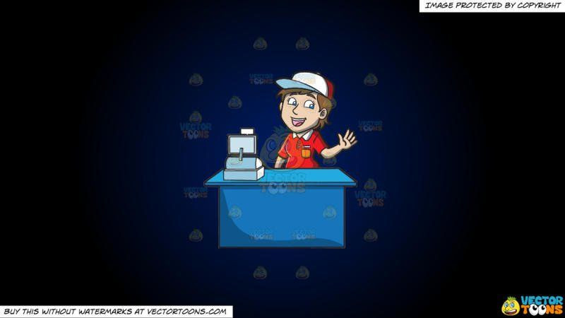Fresh worker a jolly. Cashier clipart fast food cashier