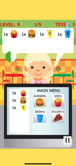 Burger game on the. Cashier clipart fast food cashier