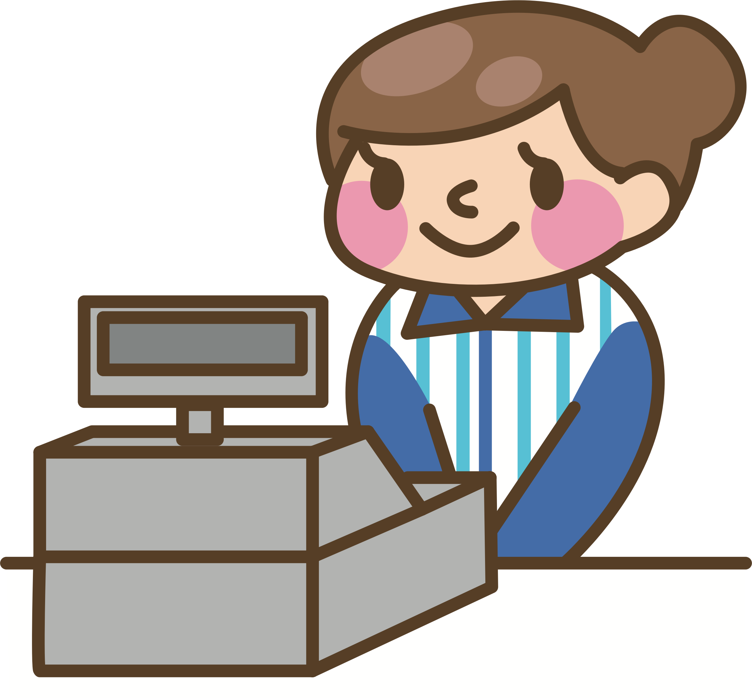 Big image png. Cashier clipart female