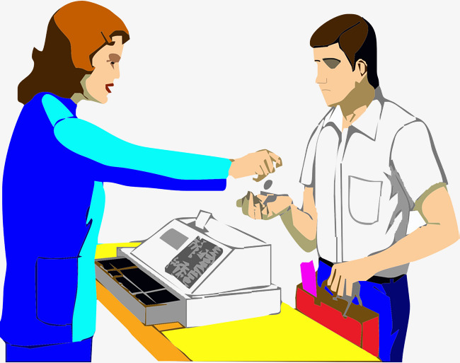 Cashier clipart female. To find money give