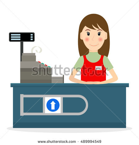 Free download best on. Cashier clipart female