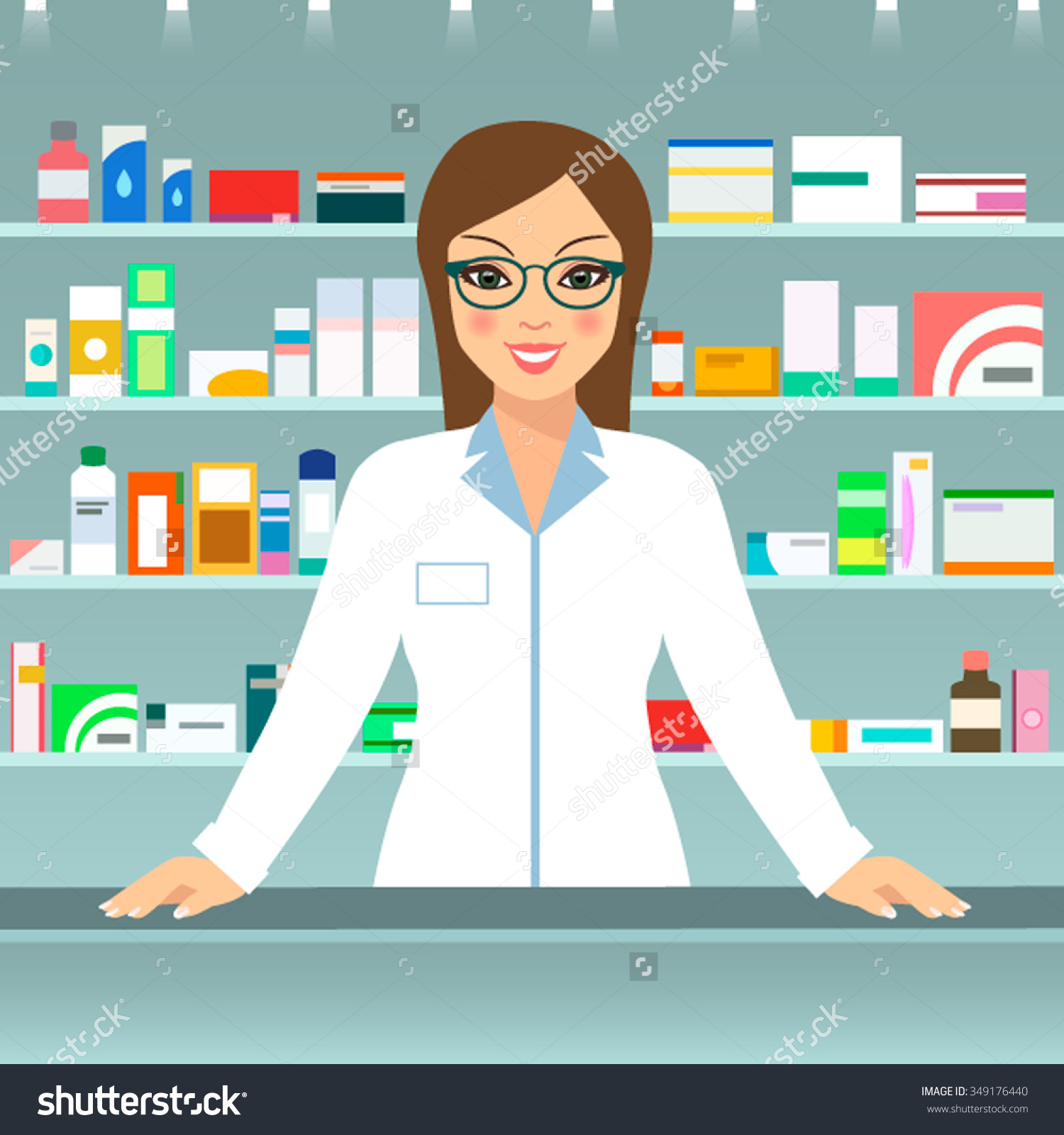 Woman pharmacist free collection. Cashier clipart female