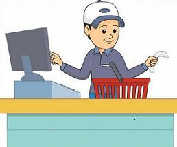 Free. Cashier clipart female