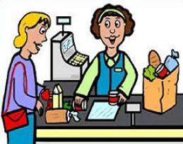 Portal . Cashier clipart grocery cashier