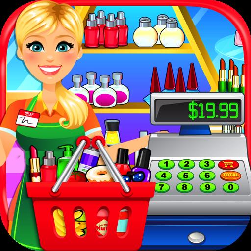 Cashier clipart grocery cashier. Amazon com supermarket drugstore