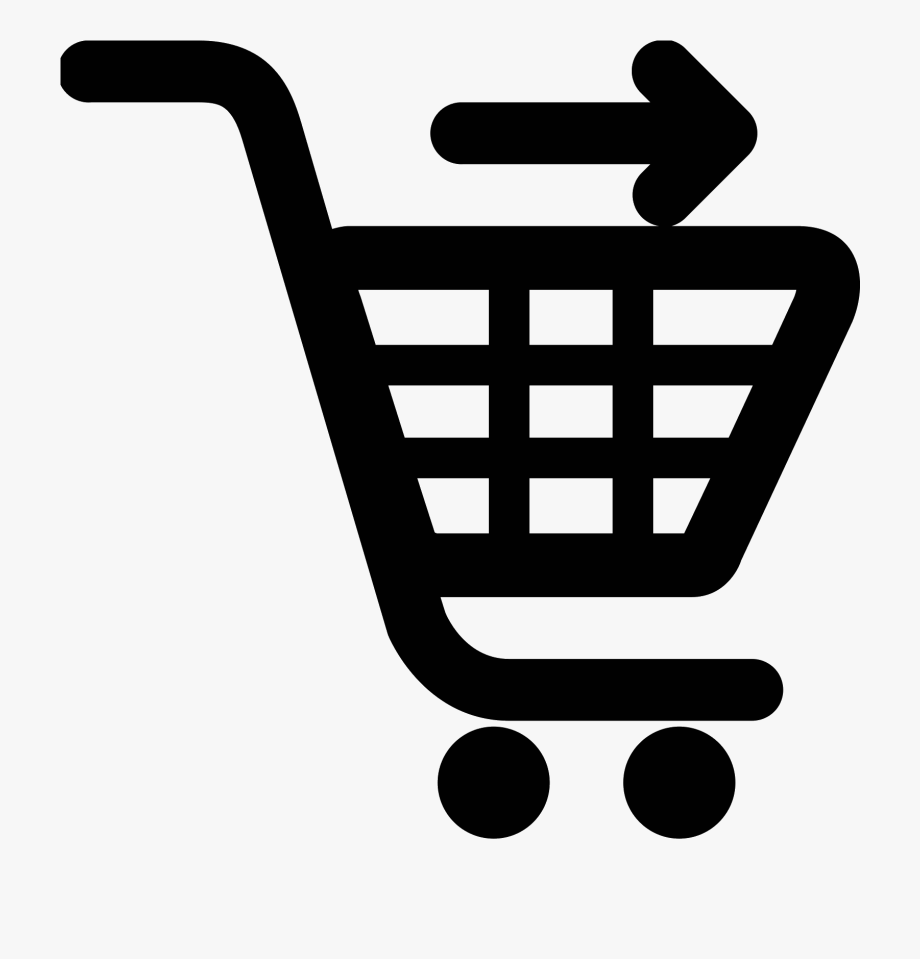 Shopping cart icon red. Cashier clipart grocery cashier
