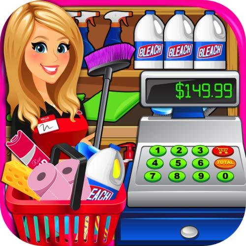 Cashier clipart grocery cashier. Supermarket superstore cash register