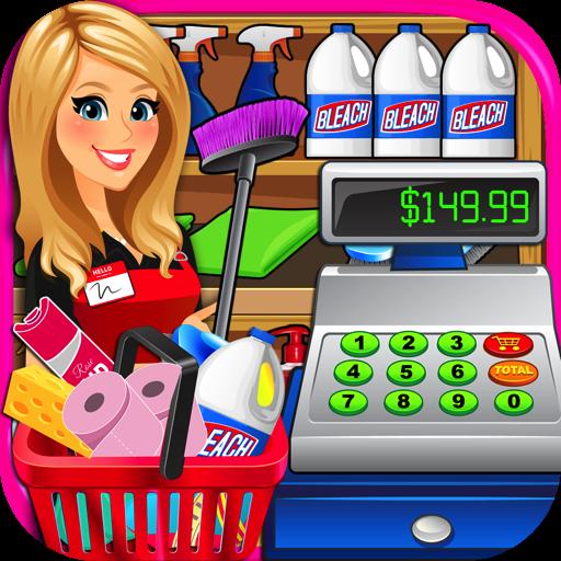 Grocery clipart cash register. Amazon com supermarket superstore