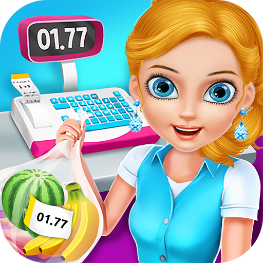 Cashier clipart grocery shopping. Supermarket free game to