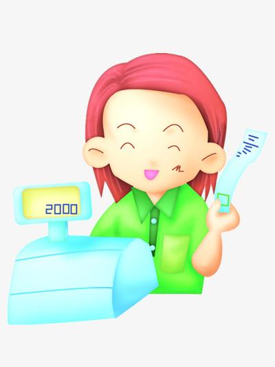 Cashier clipart happy. Work cartoon go to