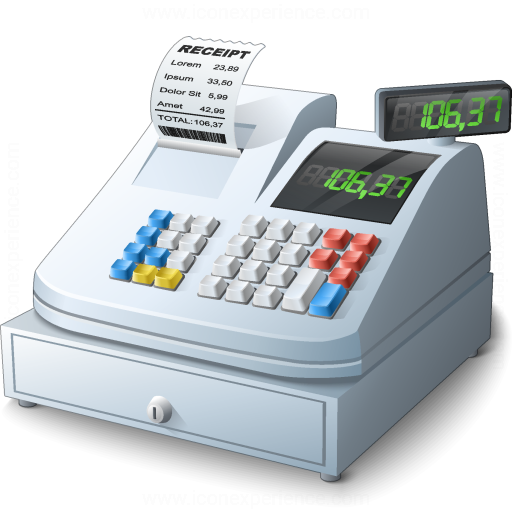 Cashier clipart machine. Iconexperience v collection cash
