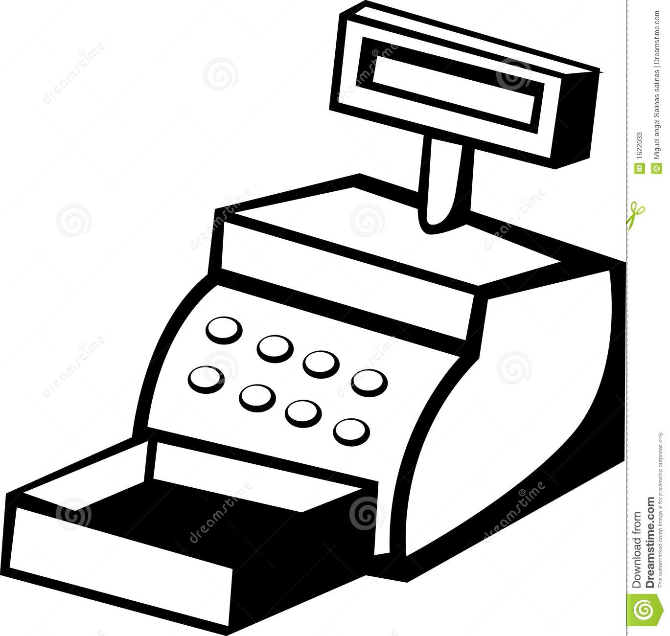 Cashier clipart machine. Cash drawer