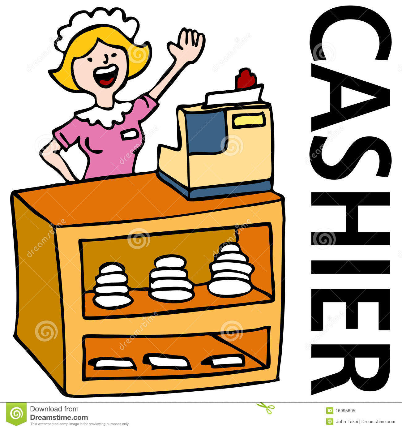 Cashier clipart male. Cafeteria free download best