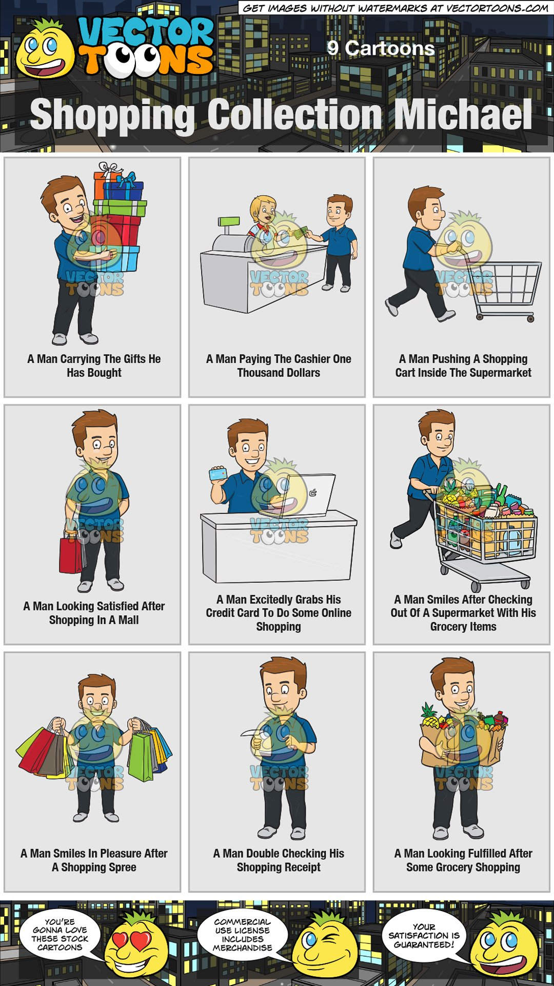 Shopping collection michael . Cashier clipart mall