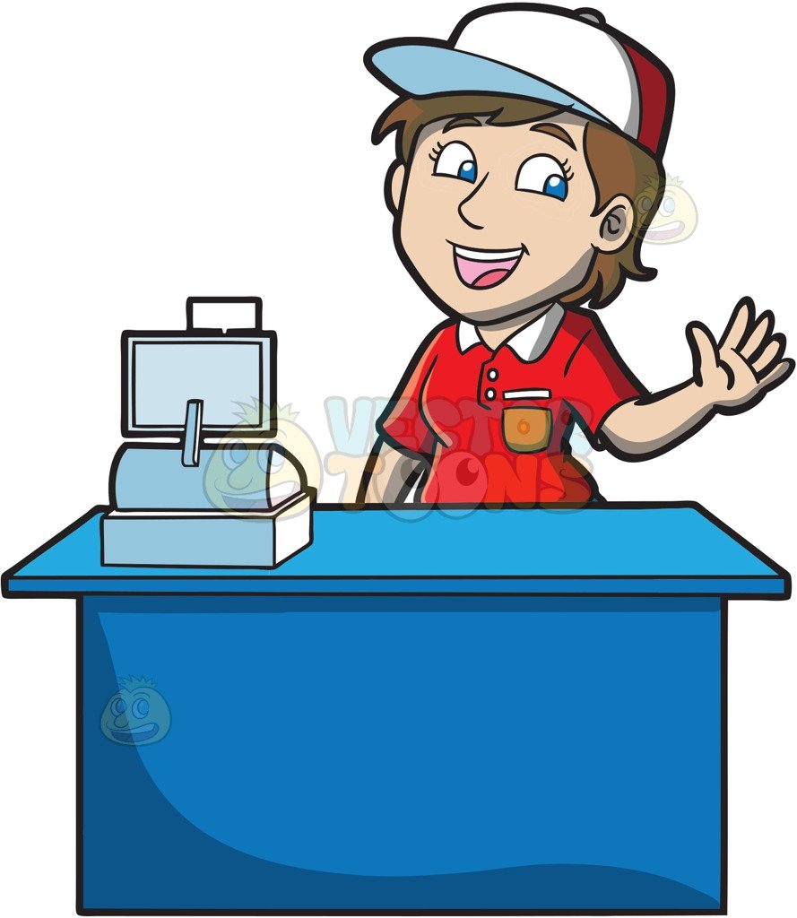 Fresh collection digital p. Cashier clipart mall