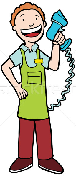 Cashier clipart person. Stock vectors illustrations and