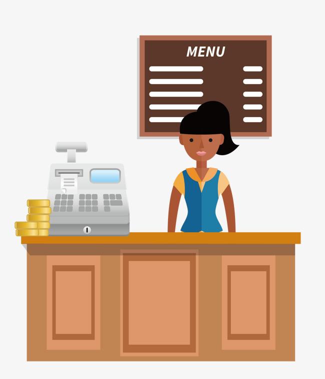Cashier Cartoons: Cashier Clipart Restaurant Cashier, Cashier Restaurant