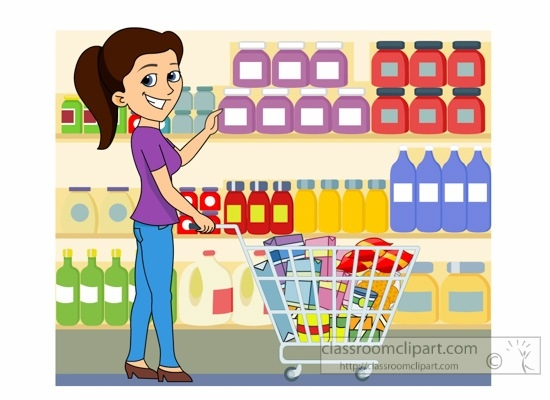 Cashier clipart sale lady. Grocery store letters ladyshoppingatgrocerystoreclipart