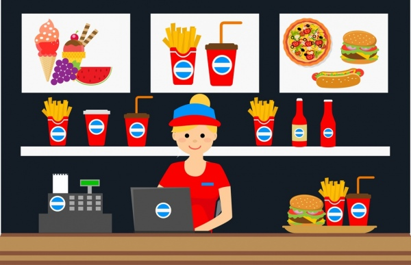 Cashier free vector download