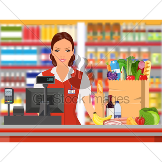 Man ethnic gl stock. Cashier clipart shop keeper