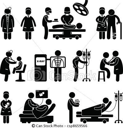 Vector doctor nurse surgery. Cashier clipart silhouette