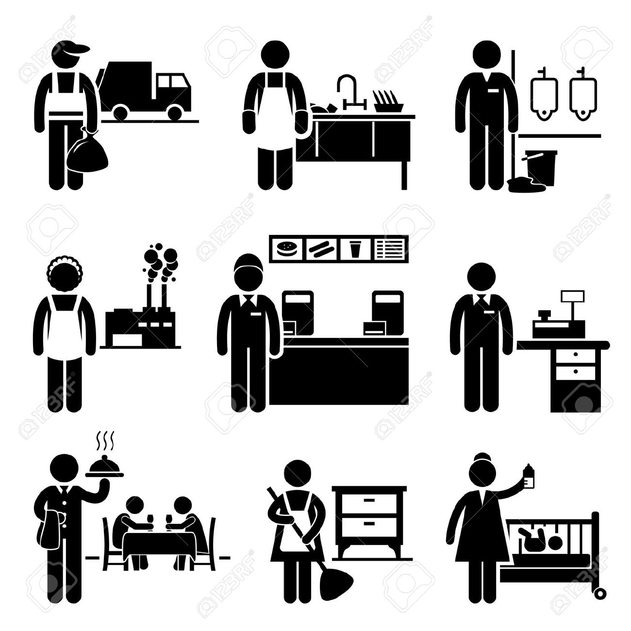 Income . Cashier clipart silhouette