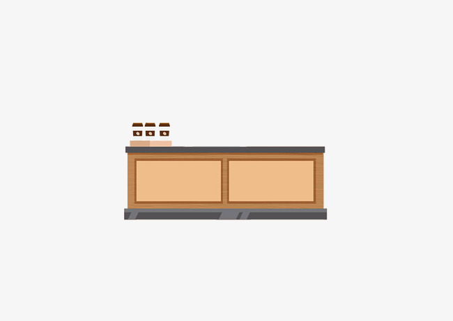 Cashier clipart table. Cartoon checkout counter png