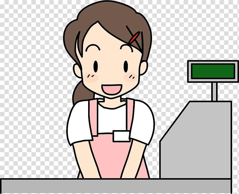 Shop clerk others background. Cashier clipart transparent