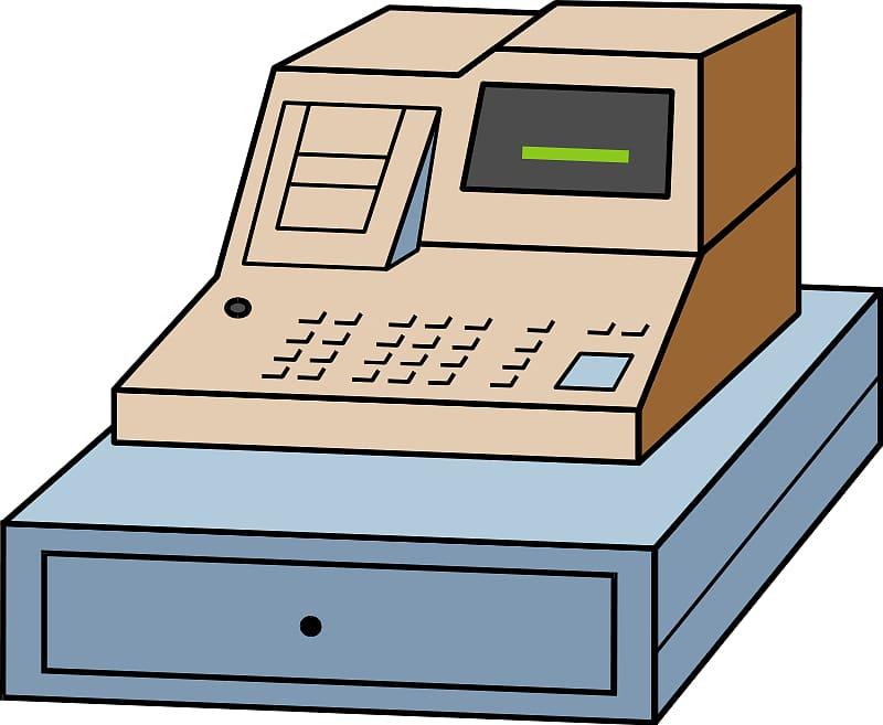 Cash register money nice. Cashier clipart transparent