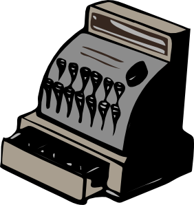 Drawer clip art at. Cashier clipart transparent