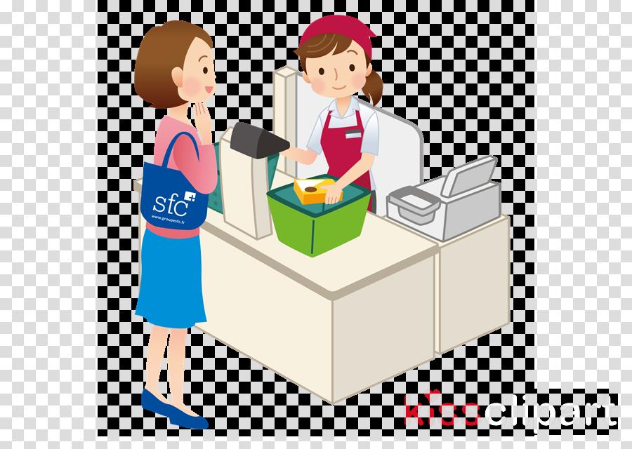 Cashier clipart transparent. Child background text product