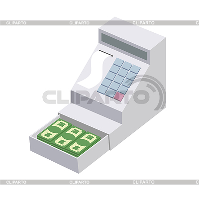 Stock photos and vektor. Cashier clipart vendor