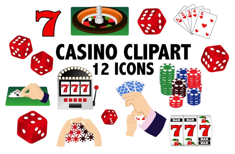 Casino clipart. Card games and printable