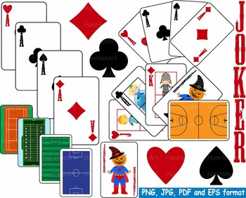 Poker playing cards clip. Casino clipart ace