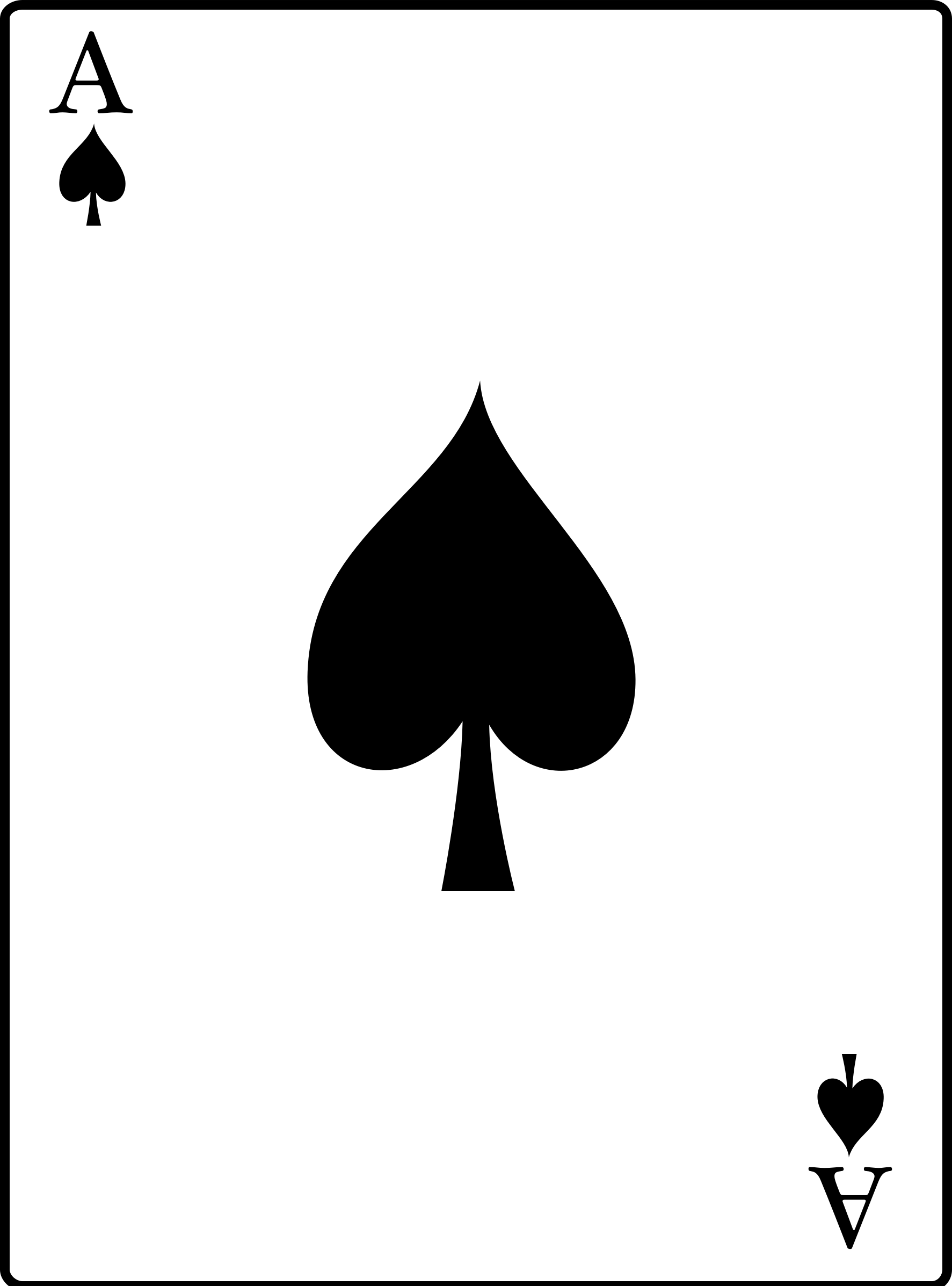 Casino clipart ace. Of spades