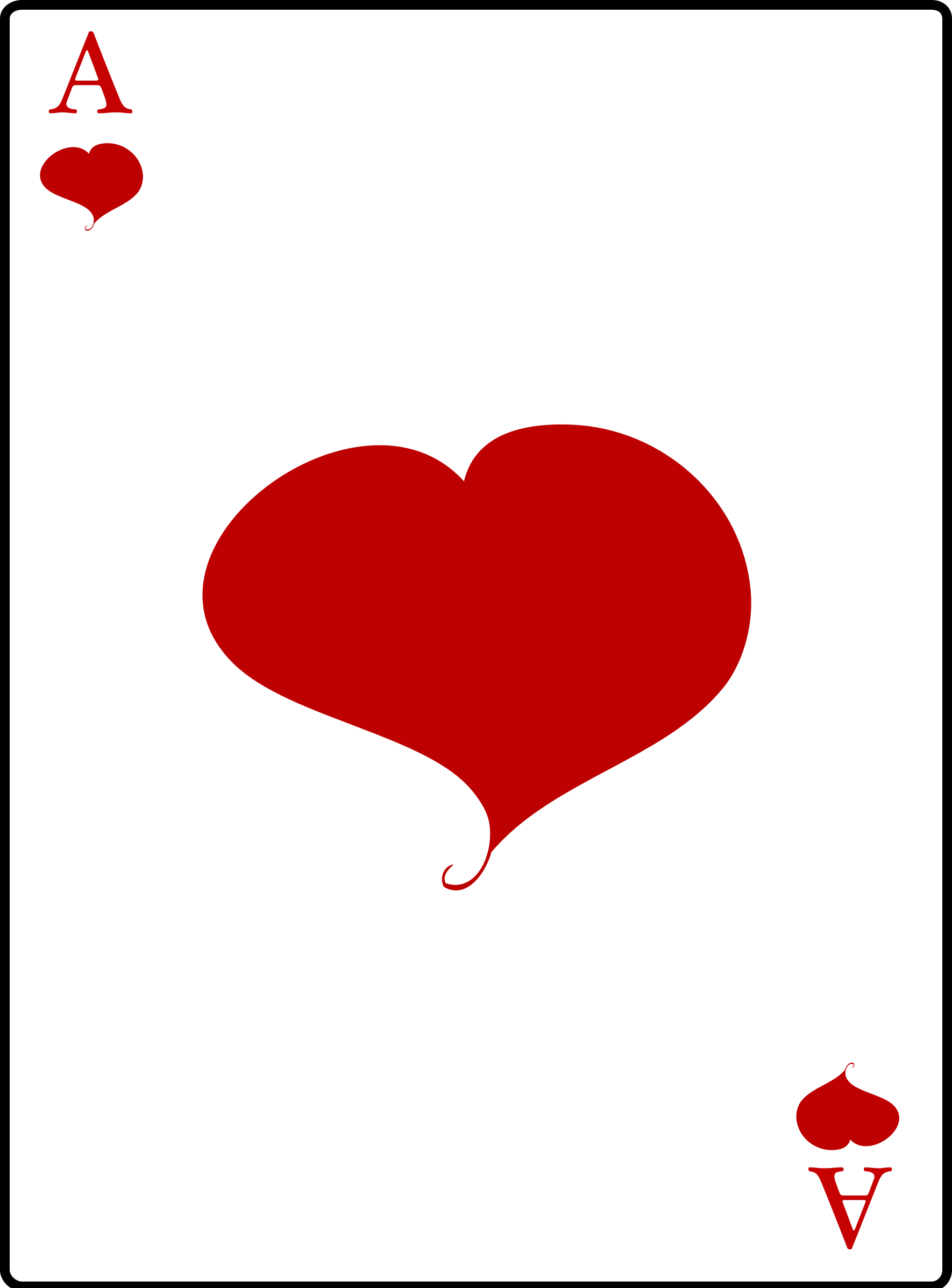 Of hearts big image. Casino clipart ace