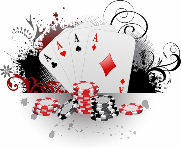 Gambling cards poker free. Casino clipart ace