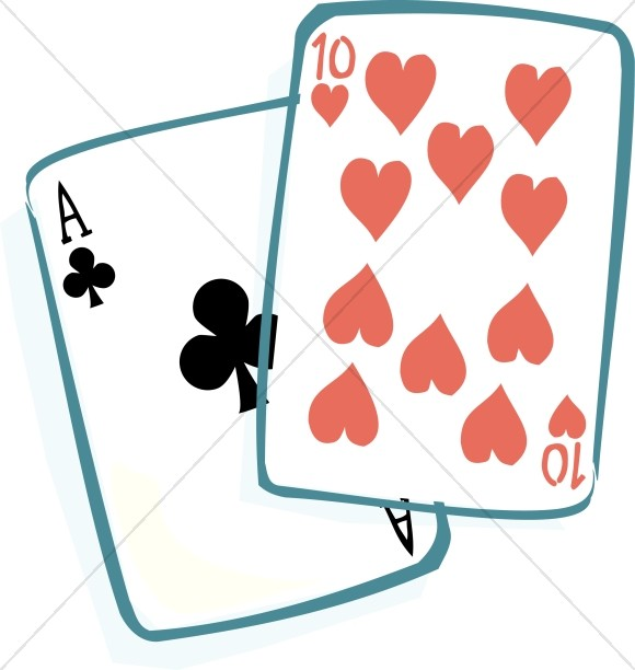 Casino clipart ace. Of clubs and ten