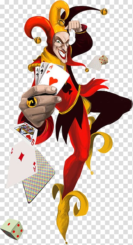 Jester illustration joker video. Casino clipart animated