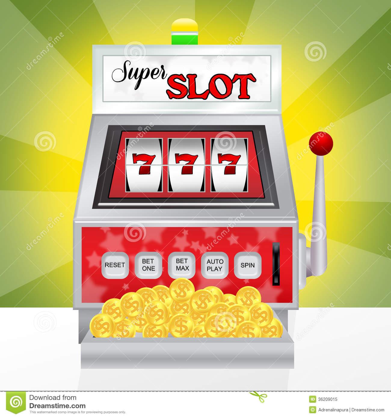 Slot machine . Casino clipart animated