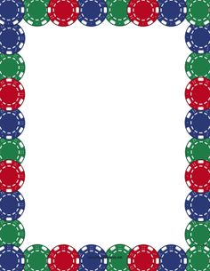 Printable use the in. Casino clipart border