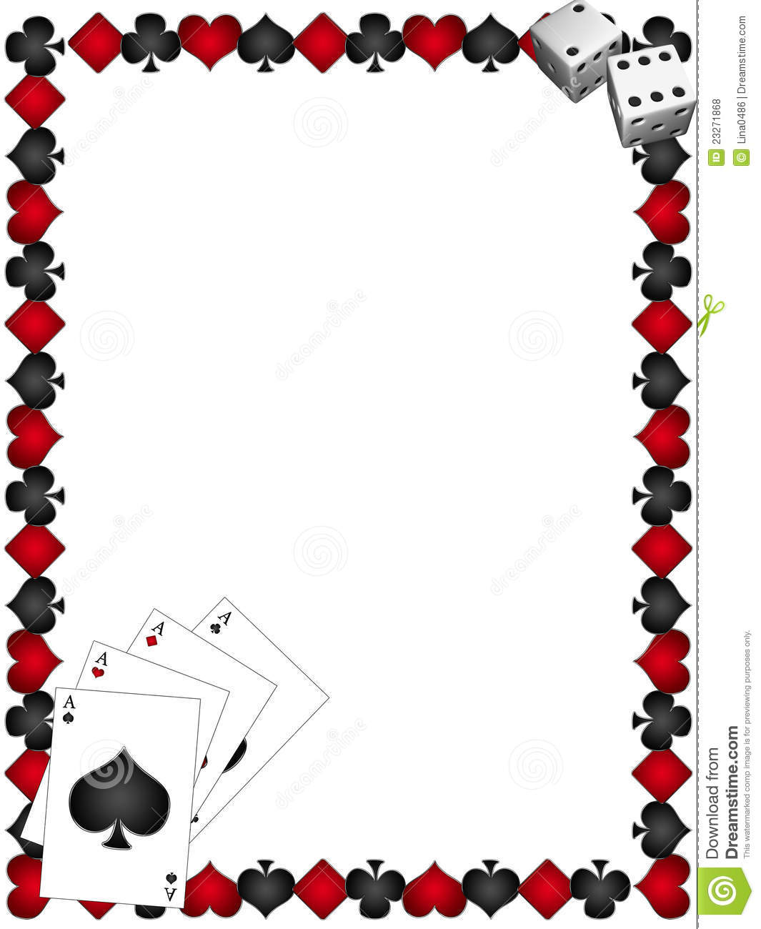 Free borders . Casino clipart border