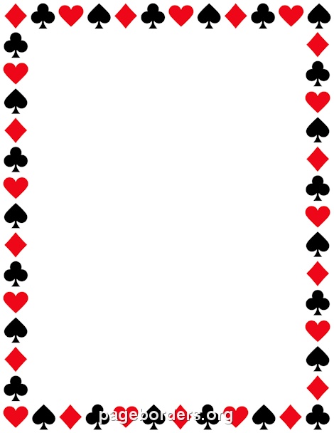 Pin by muse printables. Casino clipart border