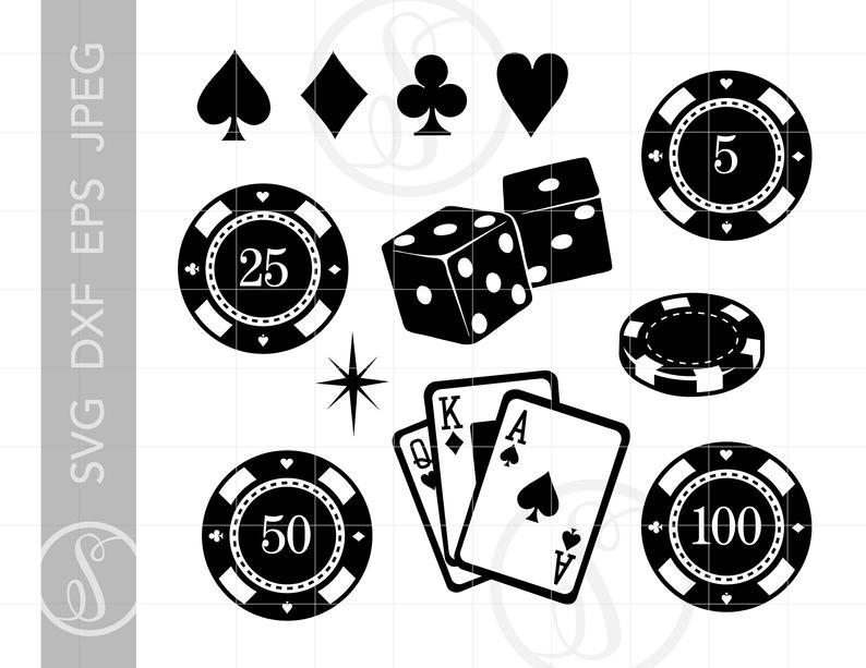 Clip art svg cut. Casino clipart card game
