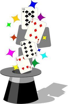 Clip art tricks free. Casino clipart card magic