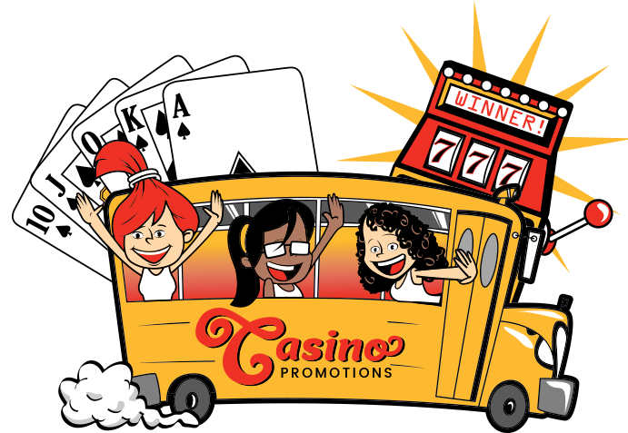 Customized casino trips and. Raffle clipart bus fare