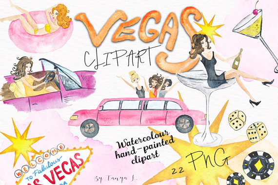 Watercolor hand painted handpainted. Casino clipart casino las vegas