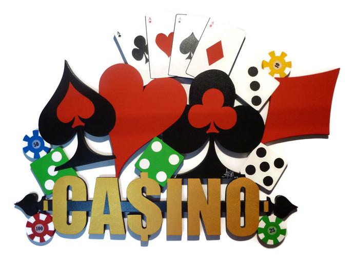 Inspired wood wall decor. Casino clipart casino royale