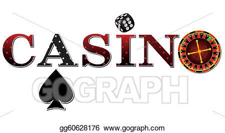 Casino clipart casino sign. Vector stock illustration gg
